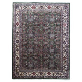 FineRugCollection Handmade Fine Mahal Green Wool Oriental Rug