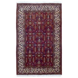 FineRugCollection Handmade Semi-Antique Persian Heriz Red Wool Oriental Rug (7'3 x 11'6)