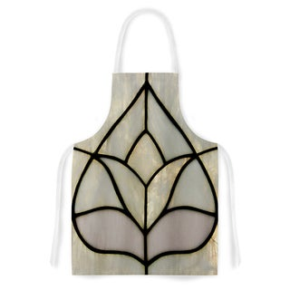 Philip Brown 'Tulip Stained Glass' Floral Digital Artistic Apron