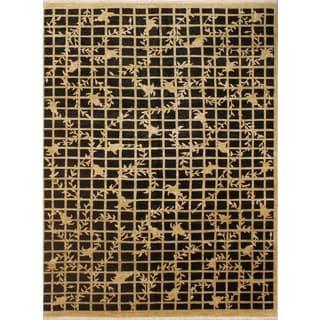 Peshawar Payton Black/Beige Rug (7'7 x 9'8)