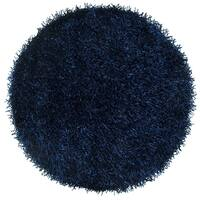 Rizzy Home Kempton Dark Blue Polyester Hand-tufted Solid Round Area Rug (3'x3') - 3' x 3'