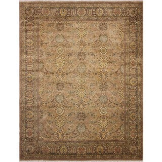 Peshawar Haleigh Beige/Chocolate Rug (8'2 x 10'2)