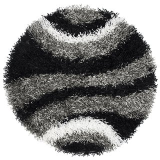 Rizzy Home Hand-tufted Kempton Multicolor Striped Round Area Rug (3' Round)