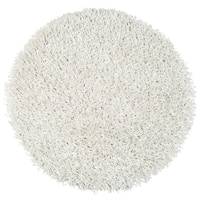 Kempton White Hand-tufted Solid Round Area Rug (3' Round) - 3' x 3'