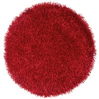 Kempton Red Hand-tufted Solid Round Area Rug (3')
