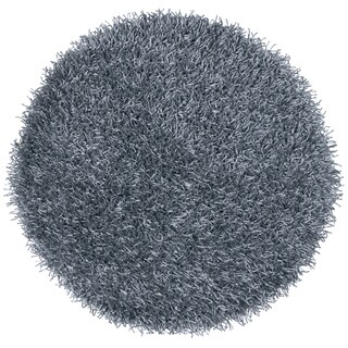 Rizzy Home Kempton Blue/Grey Hand-tufted Solid Round Area Rug (3' x 3')