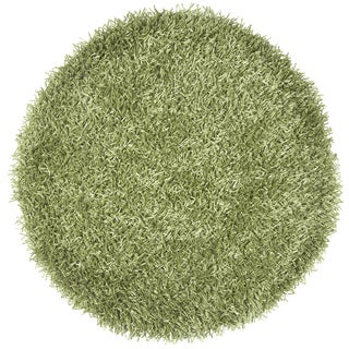 Rizzy Home Kempton Green Hand-tufted Solid Round Area Rug (3' x 3')
