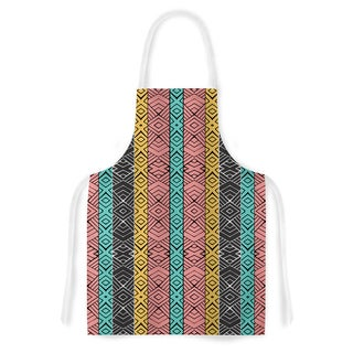 KESS InHouse Pom Graphic Design 'Artisian' Pink Teal Artistic Apron