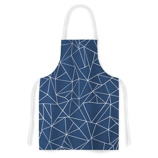 KESS InHouse Project M 'Abstraction Outline Navy' Artistic Apron