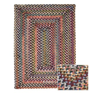 Multi-Medley Rectangle Braided Wool Rug (8' x 11')
