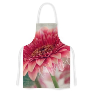 KESS InHouse Robin Dickinson 'Be Happy' Pink Floral Artistic Apron