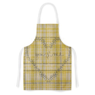 KESS InHouse Robin Dickinson 'You & Me' Yellow Artistic Apron