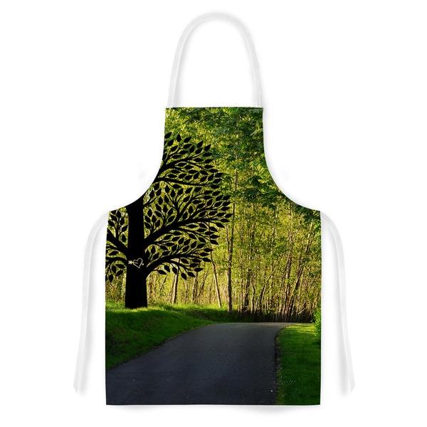 KESS InHouse Robin Dickinson 'Love Nature' Forest Artistic Apron