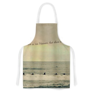KESS InHouse Robin Dickinson 'Pieces of Heaven' Tan Beach Artistic Apron