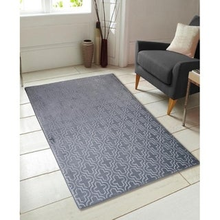 Multi-Use Memory Foam Moroccan Trellis Area Rug - 4' x 5'5