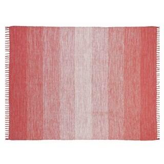 Chesapeake Cotton Ombre Area Rug (5x7) - 5 x 7 (Coral)