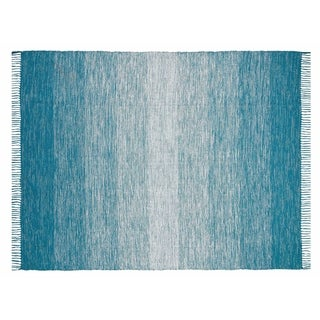 Chesapeake Cotton Ombre Area Rug (5x7) - 5 x 7 (Teal)