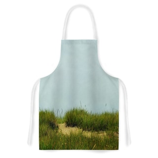 KESS InHouse Robin Dickinson 'Hand in Hand' Green Blue Artistic Apron