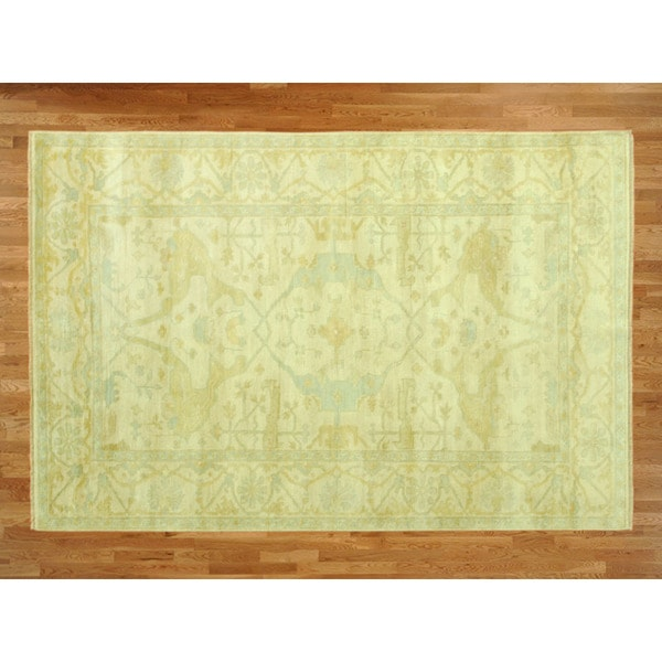 Shop Beige Wool Hand Knotted Oriental Persian Area Rug 6: Shop Hand Knotted Beige Rivieri With Wool Oriental Rug