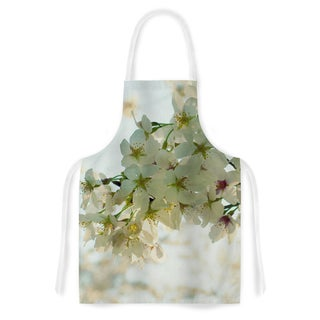 KESS InHouse Robin Dickinson 'Cherry Blossoms' White Flower Artistic Apron