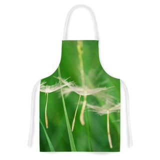 KESS InHouse Robin Dickinson 'Best Wishes' Green Flower Artistic Apron