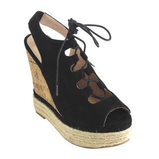 Beston FH82 Women's Lace-Up Slingback Espadrille Platform Wedge Sandals