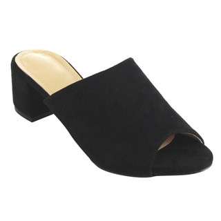 Beston FH77 Women's Slip-on Chunky Block Heel Dress Mule Sandals