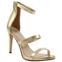 Delicious ID32 Women's Triple-strap Back-zipper Stiletto-heel Dress Sandal
