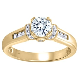 14k Yellow Gold 1CTtw Diamond Engagement Ring