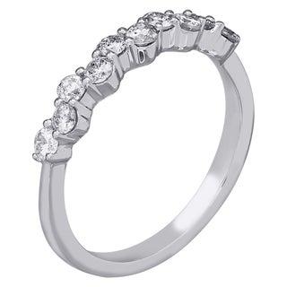 14k White Gold 1/2ct TDW White Diamond Anniversary Ring