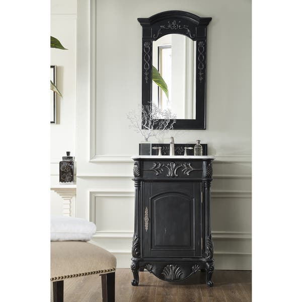 Shop St James Empire Black 24 Inch Single Bathroom Vanity