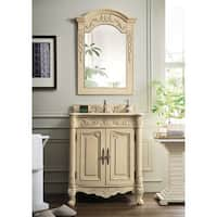 St. James Parchment Off-White 30-Inch Single Bathroom Vanity