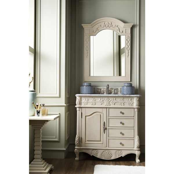 shop st james vintage vanilla off white 36 inch single bathroom vanity free shipping today. Black Bedroom Furniture Sets. Home Design Ideas