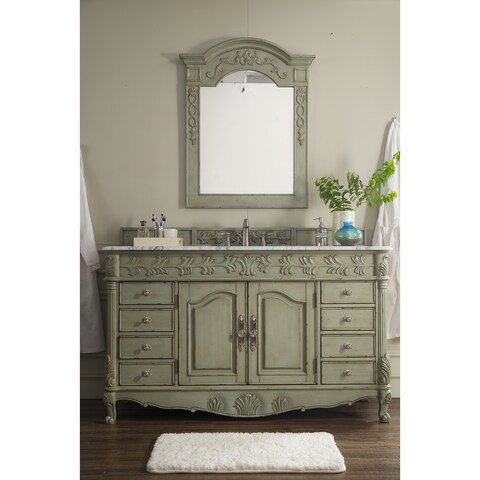St. James Celadon Green 60-inch Single Bathroom Vanity