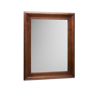 Ronbow Solid Wood Frame 29x37 Traditional Bathroom Mirror