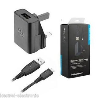 Blackberry OEM Charger USB Adapter for Blackberry Z10, Q10, Z30, Passport, Classic, Tour 9630, Torch 9810, Curve 3G 9330 UK