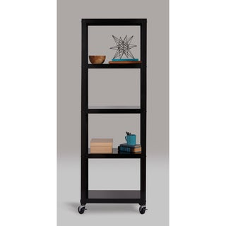 Carbon Loft Niepce Industrial Modern Mobile White 5-shelf Bookcase Cart (2 options available)