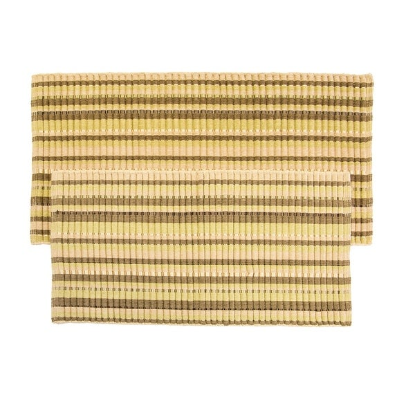Silk Ribbed Cotton and Rayon Ribbed Rugs (Set of 2)