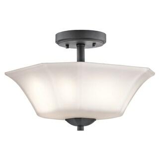 Kichler Lighting Serina Collection 2-light Black Semi Flush Mount