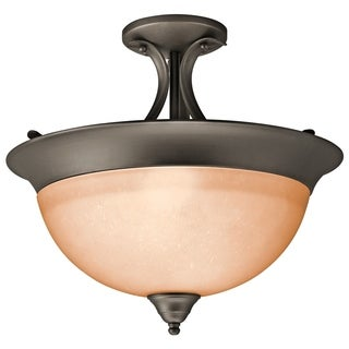 Kichler Lighting Transitional 3-light Olde Bronze Semi Flush Mount - olde bronze