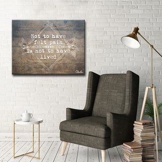 Ready2HangArt Wrapped Canvas Inspirational Wall Art - Live