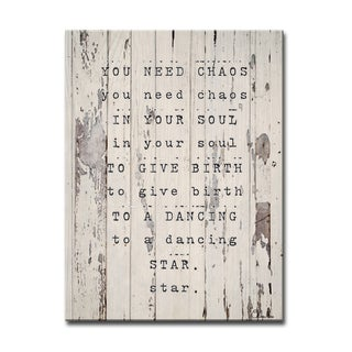Ready2HangArt Wrapped Canvas Inspirational Wall Art - Dancing Star