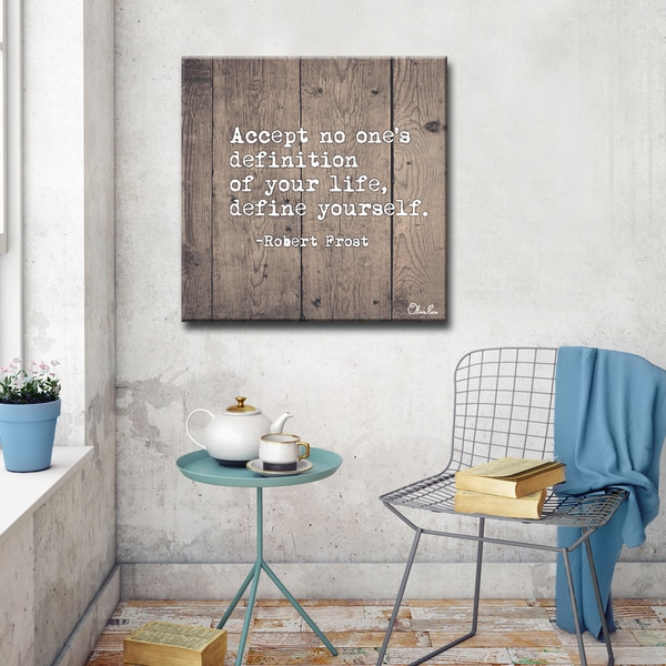 Olivia Rose 'Define Yourself' Inspirational Canvas Wall Art. Opens flyout.