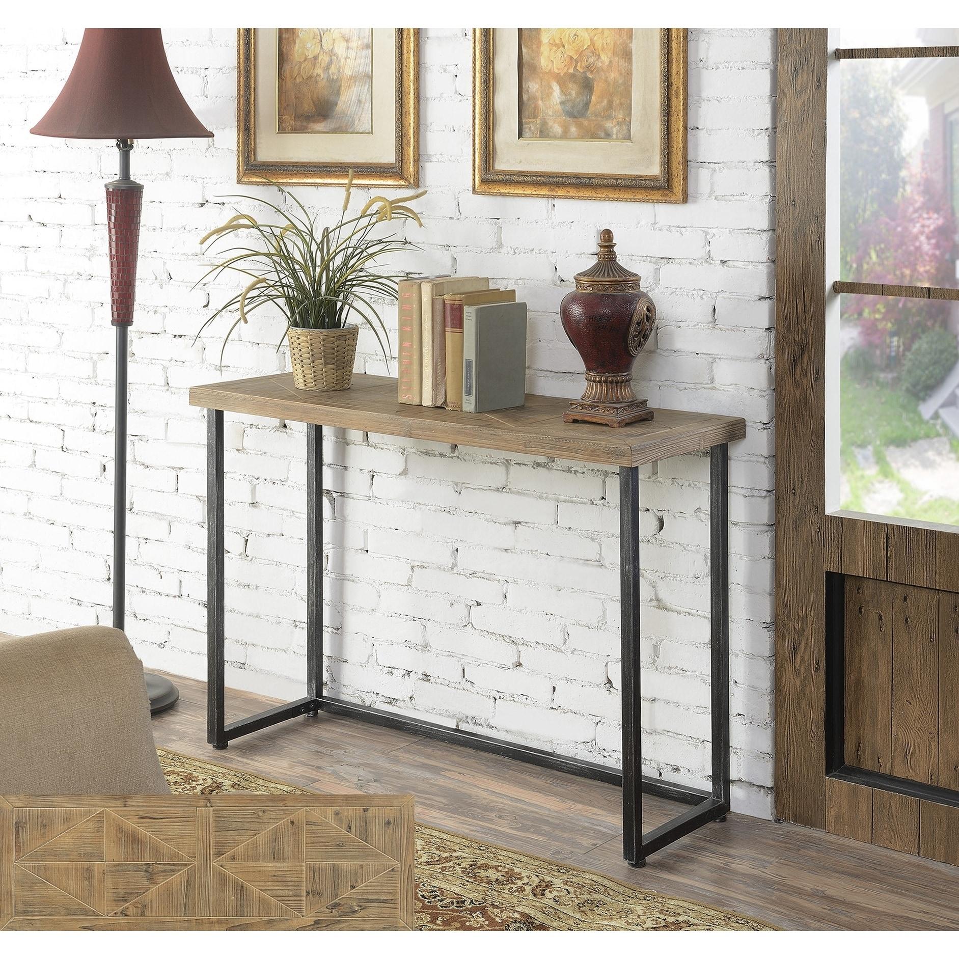 more photos 0ba8a 7aaa5 Convenience Concepts Laredo Parquet Console Table