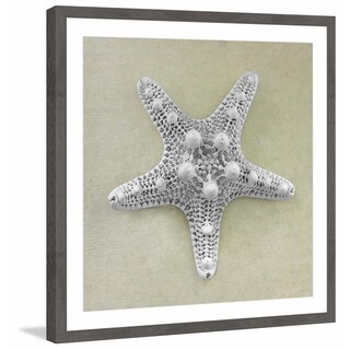 'Pearly Starfish' Framed Painting Print