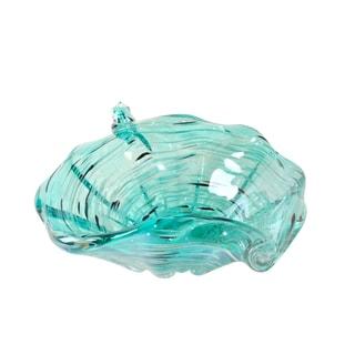 Jeco Byzacena Turquoise Glass 9.5-inch Bowl