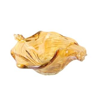 Acholla Amber Glass 9.5-inch Bowl