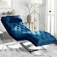 Safavieh Monroe Navy Chaise