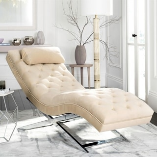 Safavieh Monroe Beige Chaise : beige chaise lounge - Sectionals, Sofas & Couches