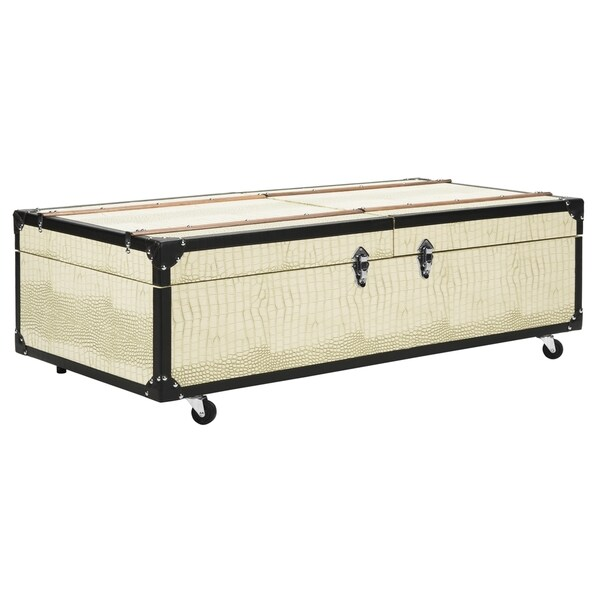 Extra Large Storage Trunk Coffee Table: Shop Safavieh Zoe Coffee Table Storage Trunk With Wine